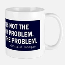 Reagan_govt-not-solution-(blue) Small Small Mug