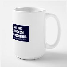 Reagan_govt-not-solution-(blue) Ceramic Mugs