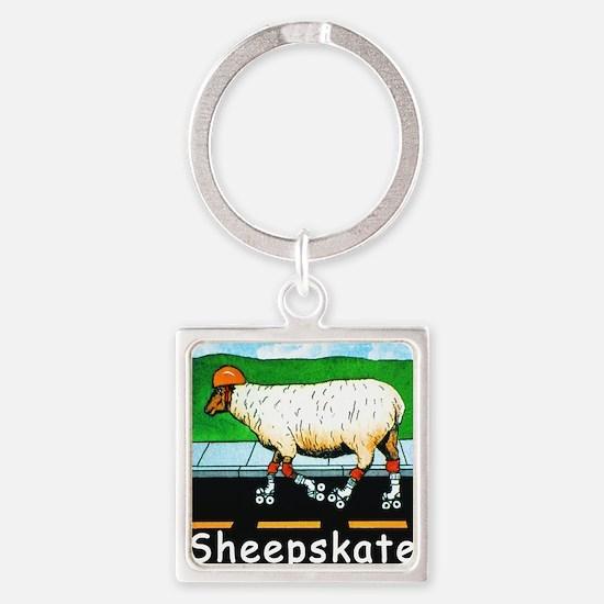 NEW SHEEPSKATE  tile Square Keychain