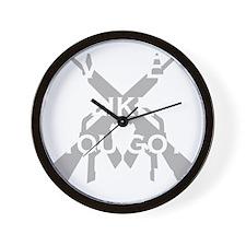 got a pair black shirt Wall Clock