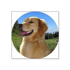 "Dog and hiking Square Sticker 3"" x 3"""