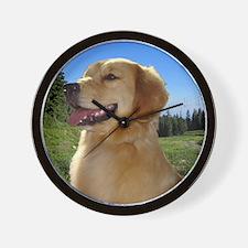 Dog and hiking Wall Clock
