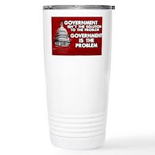 5x3 oval Government is the Prob Travel Mug