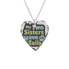 SistersHaveTails Necklace Heart Charm
