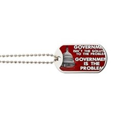 5x3 rect Government is the Problem Dog Tags