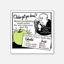 "2-GreenAppleDiet Square Sticker 3"" x 3"""