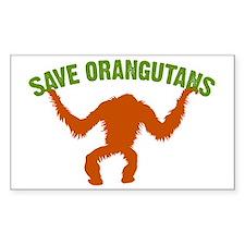 Save Orangutans large rect. Decal