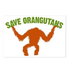 Save Orangutans large rec Postcards (Package of 8)