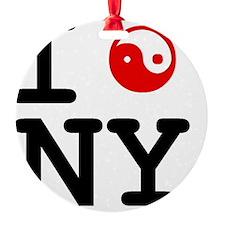 I Ying Yang NY Ornament