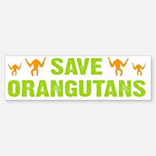 Save Orangutans banner trans Bumper Bumper Sticker