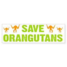 Save Orangutans banner trans Bumper Sticker