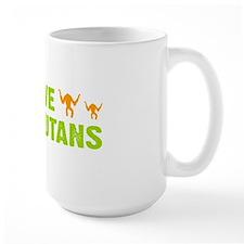 Save Orangutans banner trans Mug