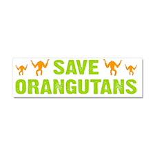 Save Orangutans banner trans Car Magnet 10 x 3