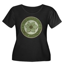 TSFM_log Women's Plus Size Dark Scoop Neck T-Shirt