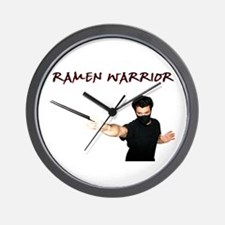 Ramen Warrior Wall Clock