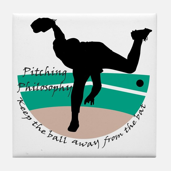 Pitching Philosophy Tile Coaster