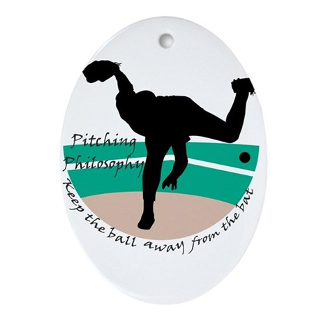 Pitching Philosophy Oval Ornament