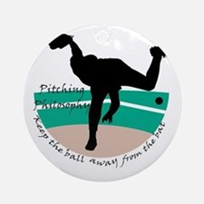 Pitching Philosophy Ornament (Round)