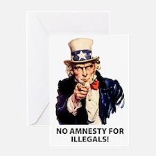 no_amnesty Greeting Card