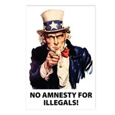 no_amnesty Postcards (Package of 8)