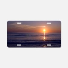 Sunrise Over Atlantic Aluminum License Plate