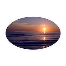 Sunrise Over Atlantic Oval Car Magnet