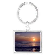 Sunrise Over Atlantic Landscape Keychain