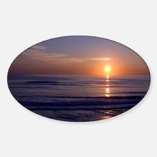 Sunrise Over Atlantic Sticker (Oval)