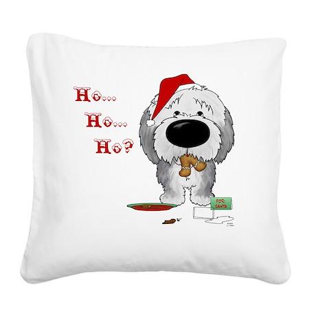 SheepdogBlueShirt Square Canvas Pillow