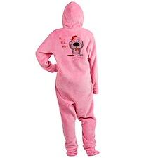 SheepdogBlueShirt Footed Pajamas