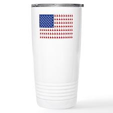 Cowboy-Rider-Flag-Tee Travel Mug