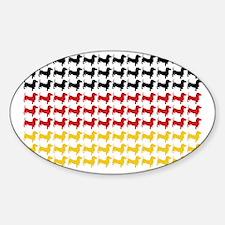 DOXIE-GERMAN-FLAG Decal