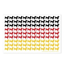 DOXIE-GERMAN-FLAG Postcards (Package of 8)
