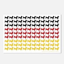 DOXIE-GERMAN-FLAG Postcards (Package of 8)