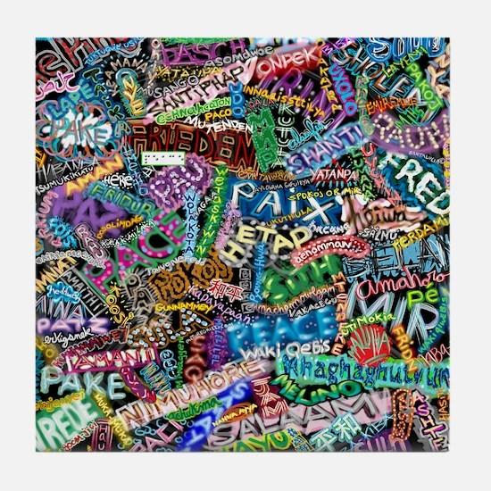 graffiti_peace_international Tile Coaster