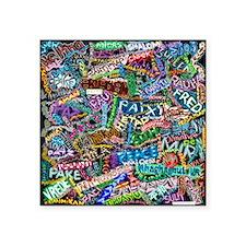 "graffiti_peace_internationa Square Sticker 3"" x 3"""