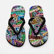graffiti_peace_international Flip Flops