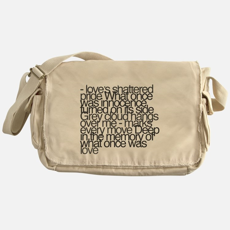 So this is permanence Messenger Bag