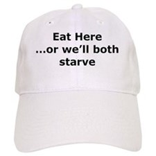 Eat here Baseball Cap