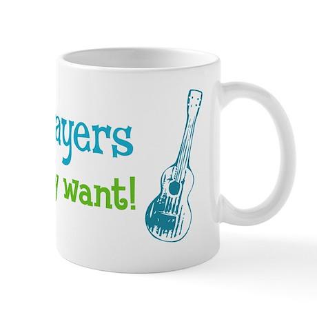 ukulele players do what they want! Mug