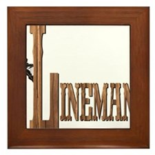Lineman Wood Framed Tile