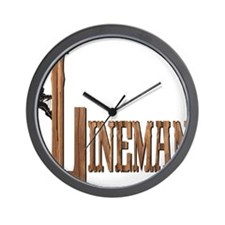 Lineman Wood Wall Clock