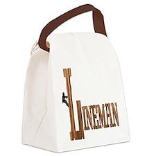 Lineman Wood Canvas Lunch Bag