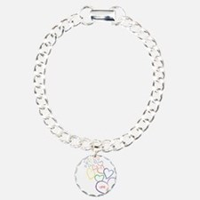 2Moms1FamilyHeartDesign Charm Bracelet, One Charm