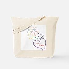 2Moms1FamilyHeartDesign Tote Bag