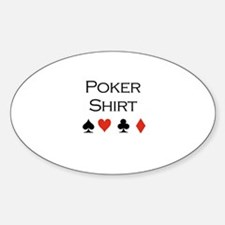Poker Shirt Oval Decal