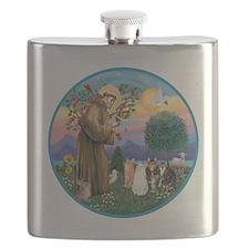 R-St Francis - Five Cats (AmSH) Flask