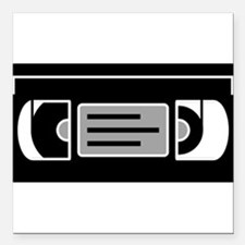 "VHS Cassette Tape Square Car Magnet 3"" x 3"""
