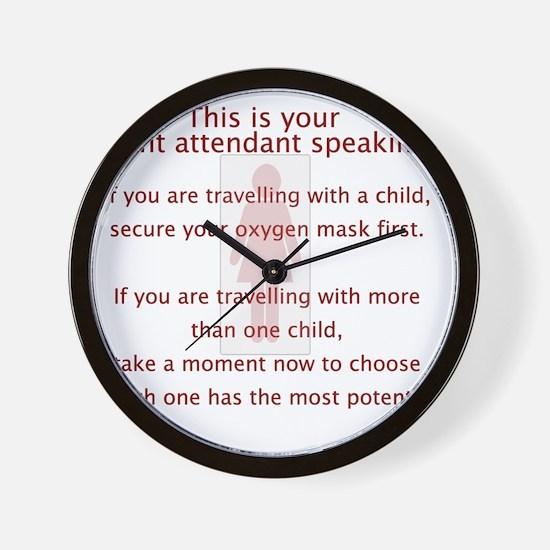 FA_Sayings Wall Clock