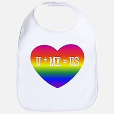Rainbow U+ME=US Bib